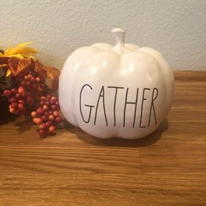 Rae Dunn GATHER pumpkin